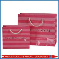 Quality Cotton Handle Glossy Lamination Silver Hot Stamp LOGO Paper Gift Packaging Bag for sale