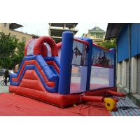 Custom Outside Inflatable Sports Games , Big Inflatable Bouncer Slide Manufactures