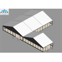 10x15m / 10x5m Outdoor Warehouse Tent Wooden Floor White PVC Cover For Trade Reception European Style Manufactures
