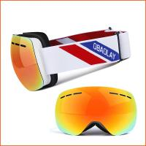 Polarized Lens Magnetic Frameless Designer Best Mirrored Snowboard Glasses Manufactures