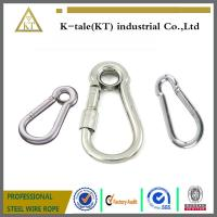 China good price 6mm Stainless Steel Locking EyeLet Carbine Hook made in china on sale