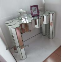 Quality Diamond Design Mirrored Glass Console Table , Modern Console Mirror Table for sale