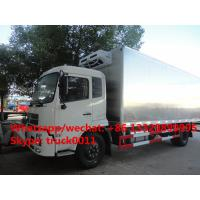 hot sale dongfeng 4*2 LHD/RHD stainless steel refrigerated truck, factory best price stainless steel cold  room truck Manufactures