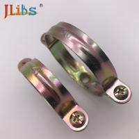 Saddle Clamp Pipe Support  M7 Without Rubber Pipe Saddle Clamp Yellow Zinc Galvanize Manufactures