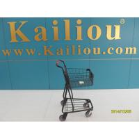 40L Singel Basket Grocery Shopping Trolley 2 front swivel caster 2 rear fixed casters