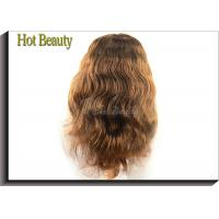 Medium Cap 100% Remy Human Hair Full Lace Wigs For Black Women , 5A Grade Manufactures