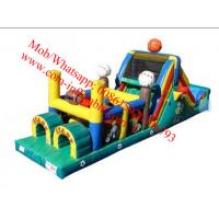 Inflatable Obstacle Courses For Rent , Moon Bounce Obstacle Course Manufactures