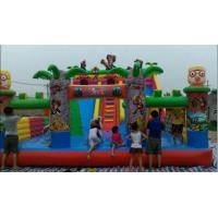 Outdoor Inflatable Sport Games Castle / Amusement Park Inflatable Obstacle Course Manufactures