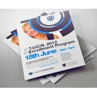 Promotional Print Business Flyers Recycled Custom Tri Fold Brochure Manufactures