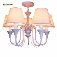 Modern LED Chandelier Lighting Fixture Gold Iron Holder Chandeliers Lamp Lustres With Fabric Lampshade For Home lamp Manufactures