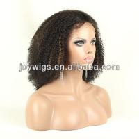 China cheap Indain remy hair short curly afro wigs for black women on sale