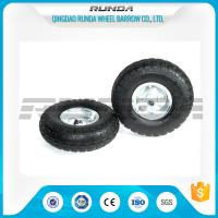 Quality Galvanized Color Pneumatic Rubber Wheels Steel Rim Ball Bearing 55mm Hub 3.50-4 for sale