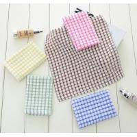 6 Colors Custom Plain Tea Towels , Eco - Friendly Waffle Weave Kitchen Towels  Manufactures