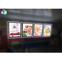 Indoor Crystal Frame Movie Poster Display Box Free Standing 6MM Thcikness Manufactures