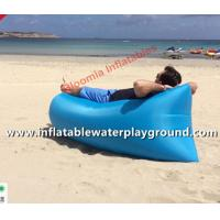 Soft Beach Sleeping Air Bag Portable Inflatable Sofa Couch With Nylon Cloth Manufactures