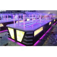 Yellow LED Commercial Buffet Equipment Granite Marble Tops Overhead Crystal Glass Gantry Manufactures