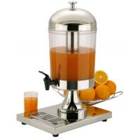 8 Liters Single Juice Dispenser , Stainless Steel Cookware For Cafeteria Manufactures