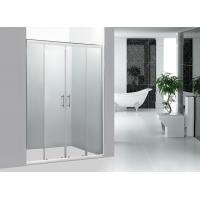 Quality Stainless Steel Handle Bathroom Framed Sliding Shower Doors 1400MM With Chrome Profile for sale