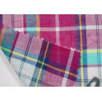 Thin Tulle Cotton Yarn Dyed  Fabric Excellent Color Fastness With Grid Pattern Manufactures