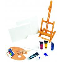 21pcs Art Painting Set With Table Easel / Palette / Canvas / Brushes / Colors Manufactures