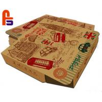 High Safety Paper Food Packing Box Matt Lamination Surface Finish For Pizza Manufactures