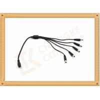 Male To Female Custom Power Cables DC12V 5.5X2.1 Mm 1 To 5 Y Type Manufactures