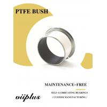 Metric Sized Journal Bearings - Coiled Bronze PTFE Backing Bushings   Self-lubricating bearings Manufactures