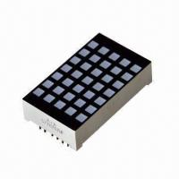 5 x 7 Dot-matrix Square LED Display, Suitable for Display Screens Manufactures
