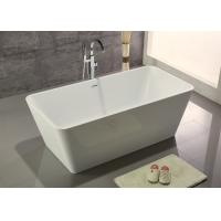 Quality Narrow Edge Portable Acrylic Freestanding Bathtub With End Drain Lightweight for sale