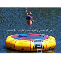Exciting PVC Fabric Water Sports Toys Inflatable Aqua Trampoline On Water Manufactures