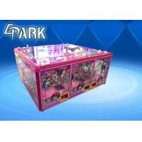 Pink Cute Coin Operated Crane Game Machine / Toy Vending Machine Manufactures