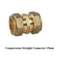 Quality compression fitting straight 15mm for copper pipe for sale