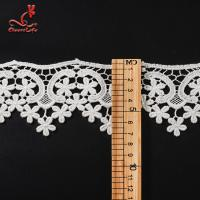 100% Cotton Water Soluble Flower Lace Trim For Clothing Pollution - Free Manufactures