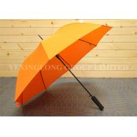 Bright Orange Color Metal Straight Handle Umbrella Junior Golf Umbrella Manual Open Manufactures