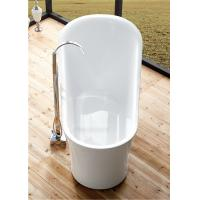 Quality 1 Person Elegant Acrylic Free Standing Bathtub Oval Soaking Tub Multiple Colors for sale