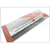 6inch / 12.7cm Aluminum Sewn Knitting Gauge With Screen Printing Manufactures