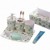 Melamine Bathroom Set, for Promotional and Gift Purposes, Customized Logos and Designs are Accepted Manufactures