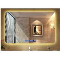 Buy cheap Modern hotel illuminated waterproof mirror led square washroom mirror anti-fogging wall mirror from wholesalers