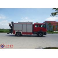 Chemical Accidents Pumper Tanker Fire Trucks With 100 Watt Alarm Control System Manufactures