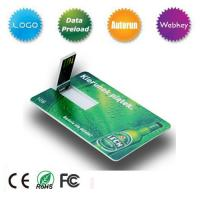 China Free Sample Credit Card USB Flash Drive on sale