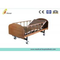 "Medical Wooden Medical Hospital Beds Double Cranks With 4pcs 4"" Noiseless Castors ( ALS-HM002) Manufactures"
