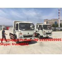 High quality and good price customized SINO TRUK HOWO 4tons dump tipper truck, Factory sale lower price HOWO tipper Manufactures