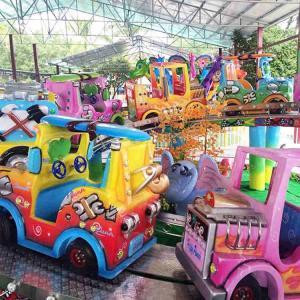 Crazy Amusement Park Rides Mini Shuttle Ride With Car Coaches Manufactures