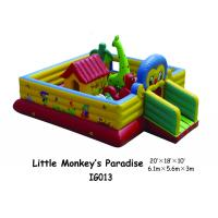 Little Monkey Paradise Infaltable Playground With Bouncer House Commercial Grade PVC Manufactures