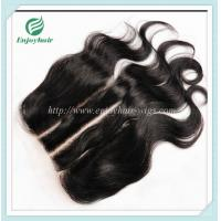 Lace top closure 5''x5''brazilian virgin hair natural color body wave 10''-24''L three way Manufactures