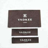 Garment labels and tags, brand name 100% polyester fabric woven labels for clothing with wash instruction Manufactures