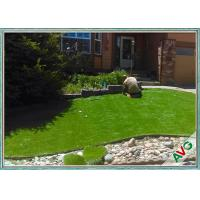 Soft Durable Landscape Garden Artificial Grass 5 / 8 Inch Gauge Apple Green Manufactures