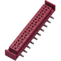 PA46 1.27mm Red Micro Match Connector Female SMT  PBT With Latch Manufactures