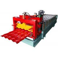 Grey Color Corrugated Sheet Roll Forming Machine With 2 Hydraulic Guillotine Manufactures