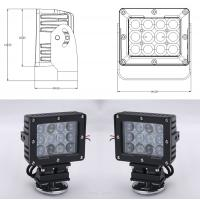 60W Square Vehicle LED High Power Driving Lights , 6500K 4800 Lumen 12 Volt Led Work Lights Manufactures